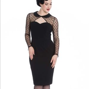 Hell Bunny Black Hollywood Wiggle Dress XS